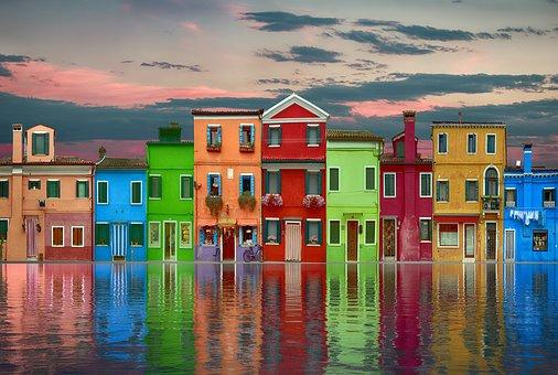 Colorful City on the Water