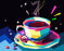 Colorful Coffee Art