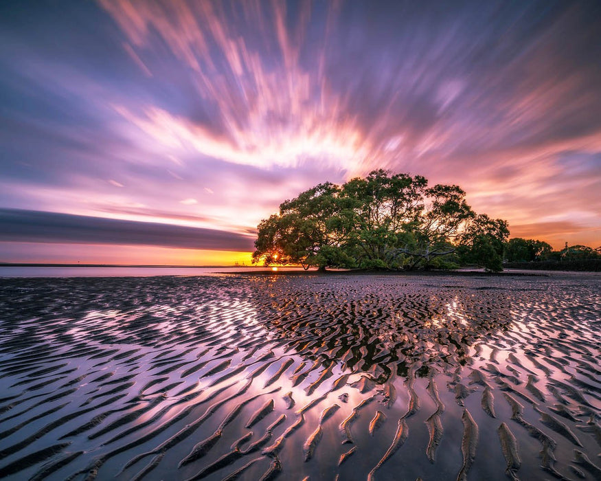 This is a photo of an island on low tide