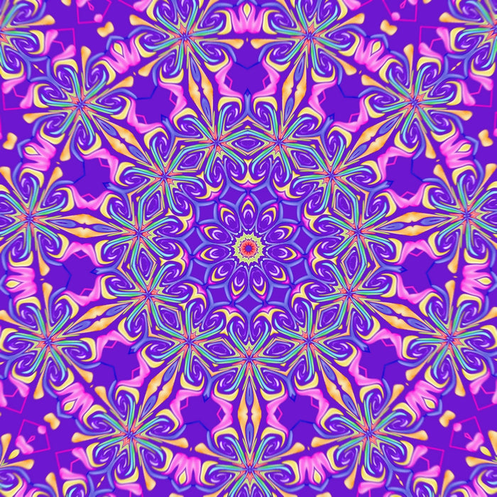This is a photo of Purple Flowers Mosaic