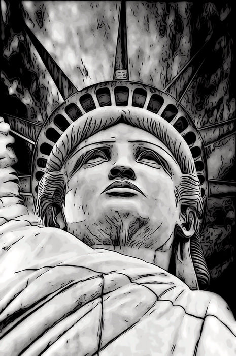 Black & White Statue of Liberty