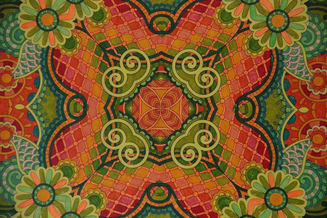 This is a photo of a Green & Orange Mosaic
