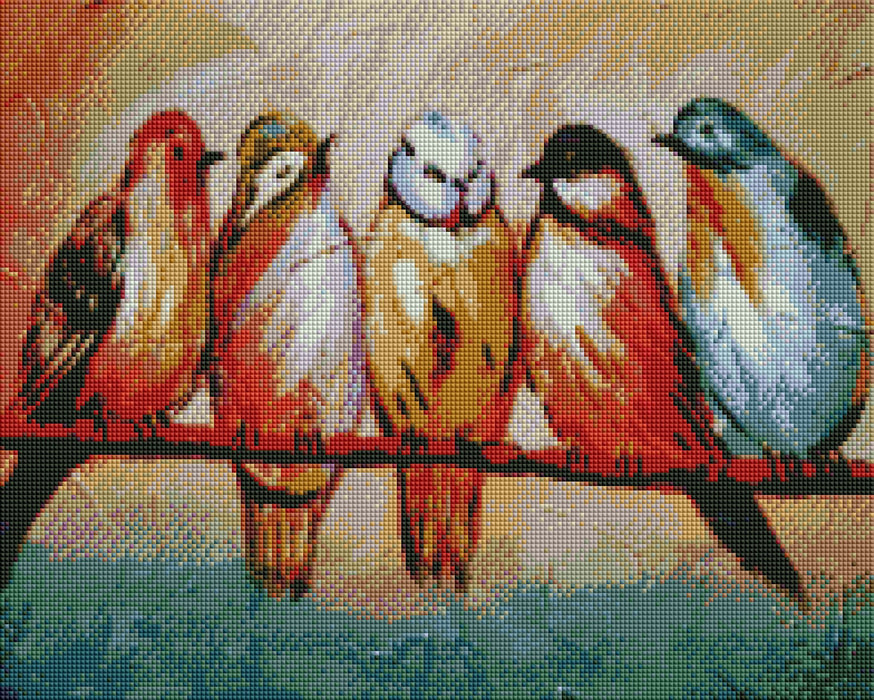 Birds on a Branch - Shimmer Stitch
