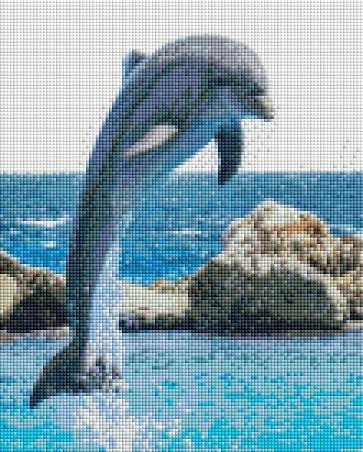 Leaping Dolphin - Shimmer Stitch