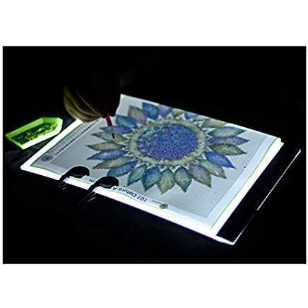 "Light for Diamond Painting: LED Light Pad LARGE (A4) - 13.2""x 9.2"" - Shimmer Stitch"