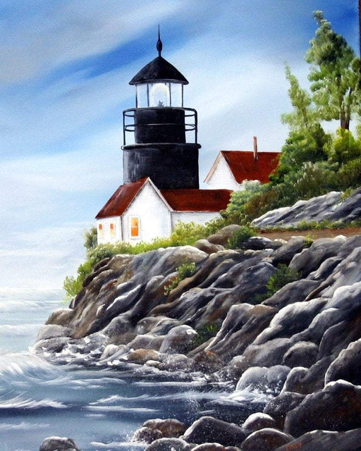 Lighthouse on a Cliff - Shimmer Stitch