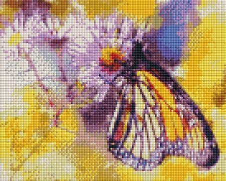 Painted Butterfly (SQUARE Diamonds) - Shimmer Stitch