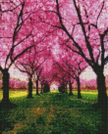 Pink Forest (SQUARE Diamonds) - Shimmer Stitch