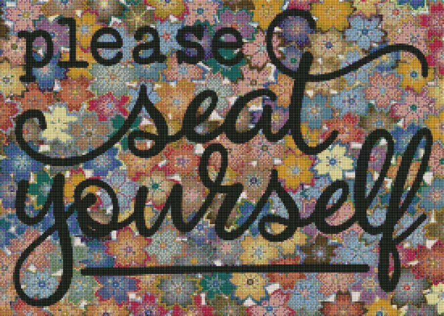 Please Seat Yourself (SQUARE Diamonds) - Shimmer Stitch