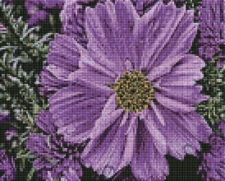 Purple Flower (SQUARE Diamonds) - Shimmer Stitch