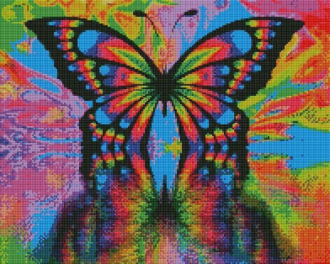 Rainbow Butterfly (SQUARE Diamonds) - Shimmer Stitch