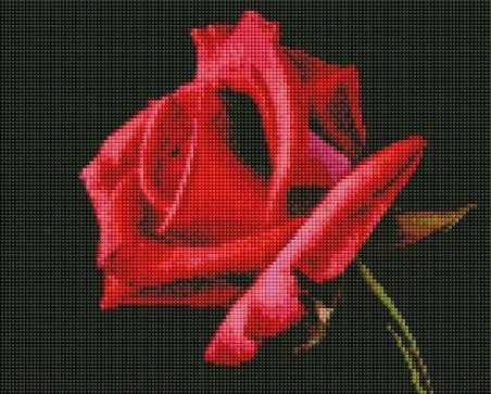 Red Rose (SQUARE Diamonds) - Shimmer Stitch