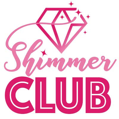 This is a photo of the Shimmer Club Logo