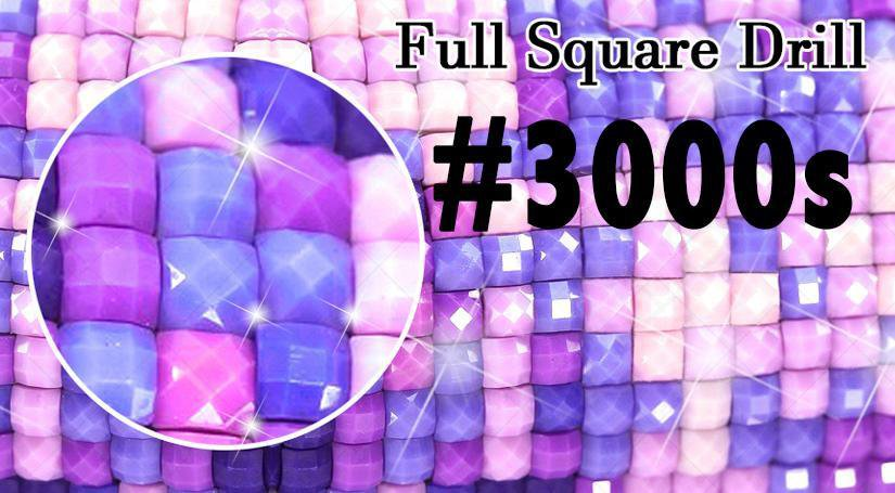Square Diamond Drills (DMC #3000s) - Shimmer Stitch