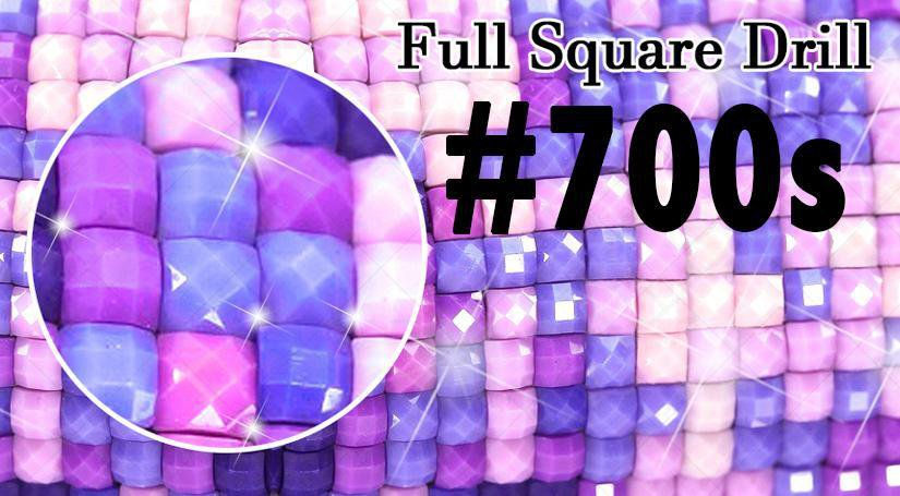 Square Diamond Drills (DMC #700s) - Shimmer Stitch