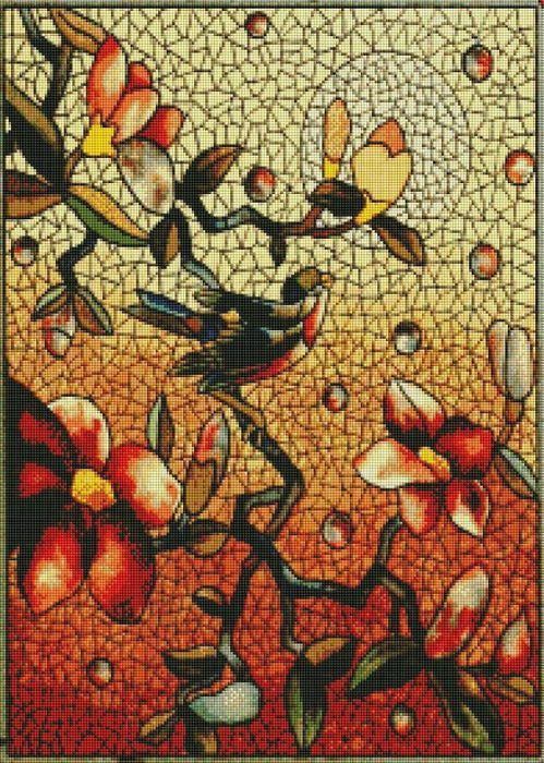 Stained Glass Bird (SQUARE Diamonds) - Shimmer Stitch