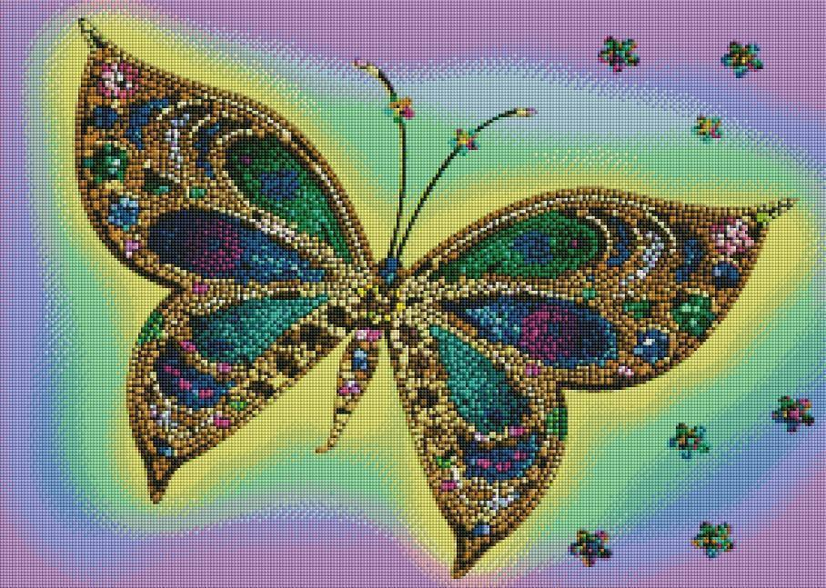Stained Glass Butterfly (SQUARE Diamonds) - Shimmer Stitch