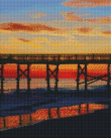 Sunset Bridge (SQUARE Diamonds) - Shimmer Stitch
