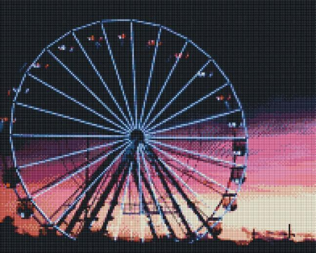 Sunset Ferris Wheel (SQUARE Diamonds) - Shimmer Stitch