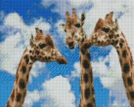 Three Giraffes (SQUARE Diamonds) - Shimmer Stitch
