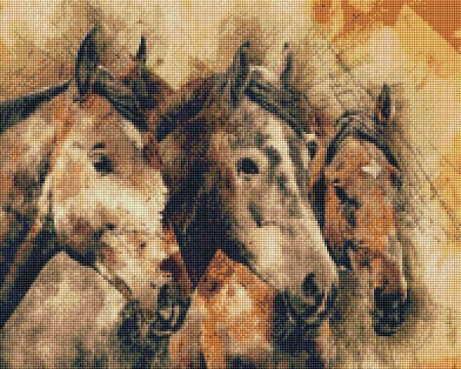 Three Horses (SQUARE Diamonds) - Shimmer Stitch