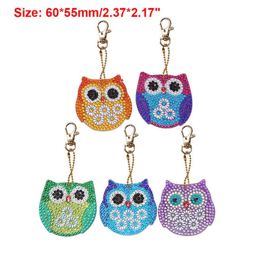 Owl Keychains - Set of 5