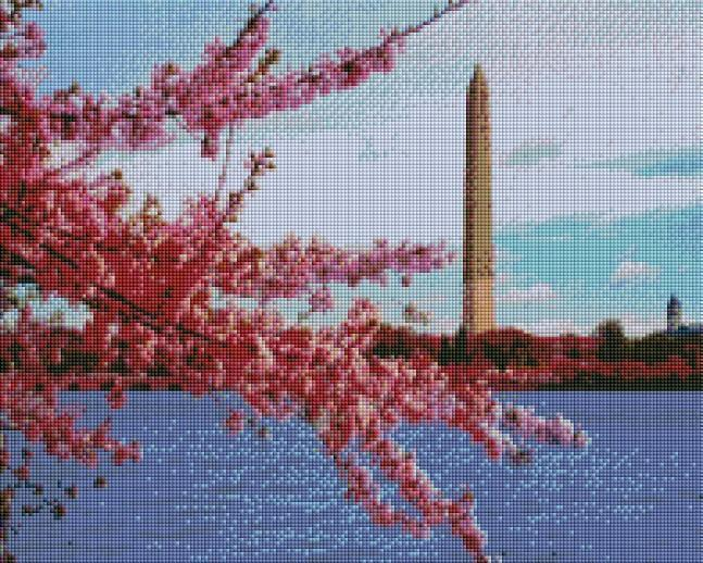 Washington Monument (SQUARE Diamonds) - Shimmer Stitch