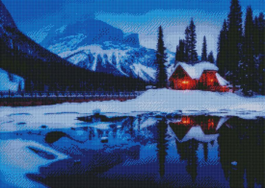 Winter Cabin (SQUARE Diamonds) - Shimmer Stitch