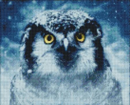 Winter Owl (SQUARE Diamonds) - Shimmer Stitch