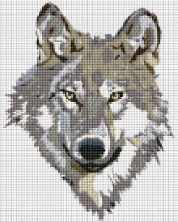 Wolf Head (SQUARE Diamonds) - Shimmer Stitch