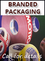 branded tapes with company loge