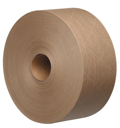 16 x 70 mm Wide Tegrabond Brown/Buff Reinforced Gummed Paper Tape 125 GSM - packaging supplies uk