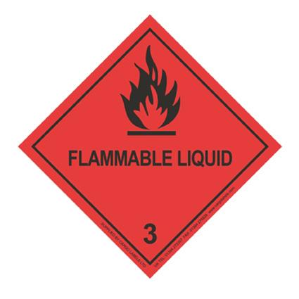 FLAMMABLE LIQUID Hazard Warning Label - in stock Hazard Warning Labels