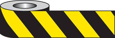 70 x 500m Yellow/Black Barrier And Area Cordon Tape - in stock Barrier Tapes