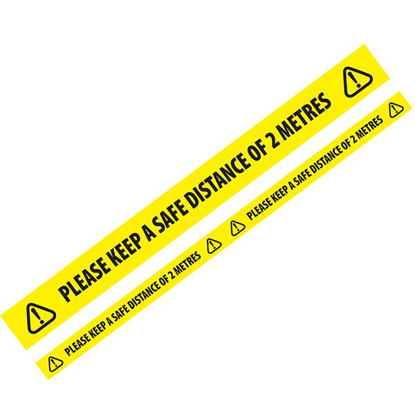 Please Keep A Distance Of 2M Floor Marking Tape 50mm x 33m 6 Pack