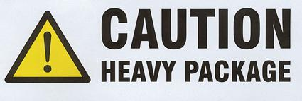 500 x Caution Heavy Printed Labels On A Roll 148 mm x 50 mm