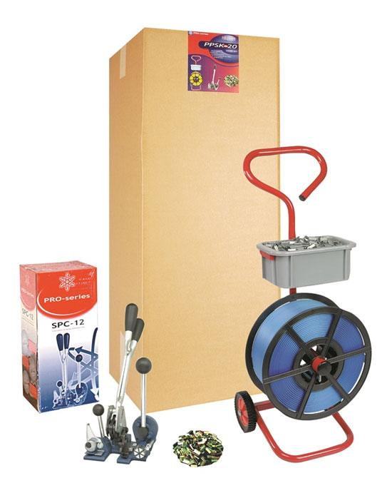 Strong Strapping Kit With 12mm PP Strapping, Mobile Dispenser and Combination Tool