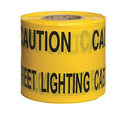 Underground Services Buried Tape 'Caution Street Lighting Cable' (2 Pack)