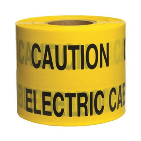 Underground Services Buried Tape 'Caution Electric Cable' (2 Pack)
