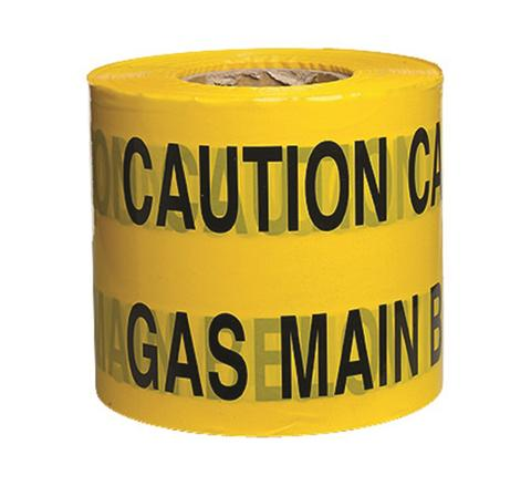 Underground Services Buried Tape 'Caution Gas Main'  (2 Pack)