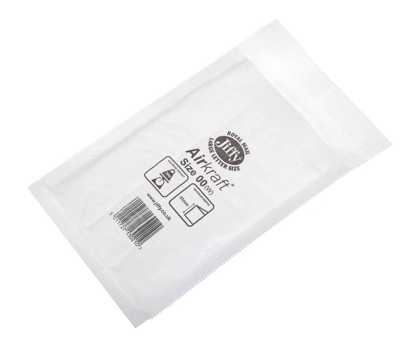 100 Jiffy Airkraft Bubble Lined Postal Envelopes AK00 115 X 195 mm - in stock Jiffy Airkraft Bags