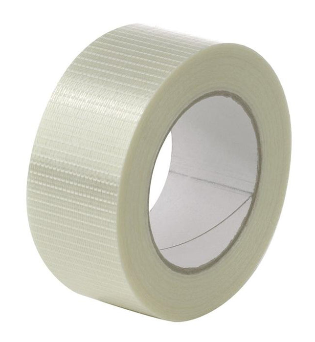 12 x 75 mm Crossweave Reinforced Filament Tape - in stock Mono & Cross Weave Tape