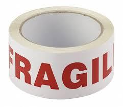 Fragile Printed Message Tape 50mm x 66m  Transpal