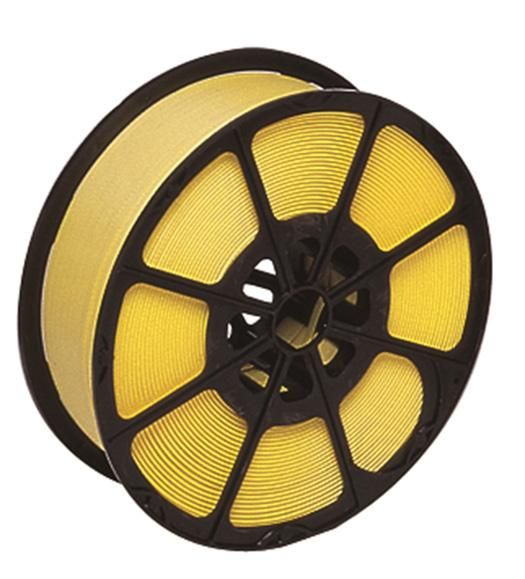1000m x 12mm Yellow Polypropylene Plastic Pallet Strapping And Banding Tape 300 Kg Breaking Strain