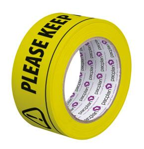 KEEP YOUR DISTANCE Floor Marking Tape 6 Rolls 50mm x 33m