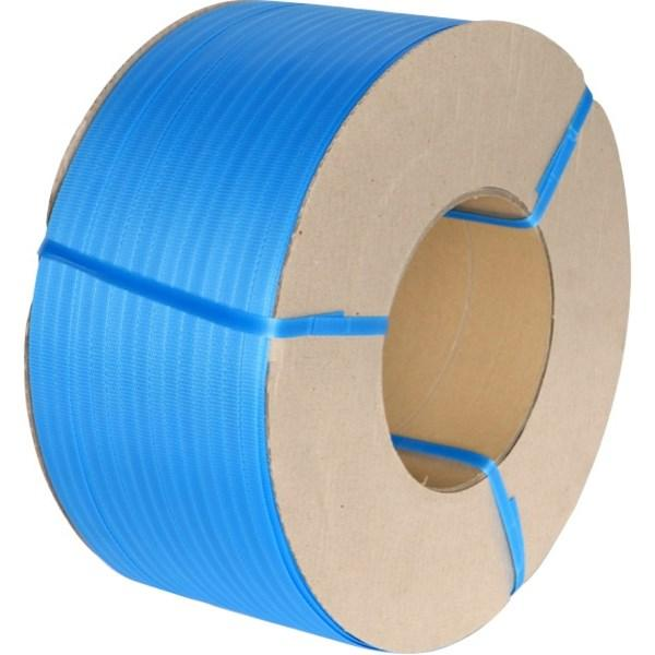 Blue 12mm x 0.55mm Machine Strapping 3,000m. 145kg Break Strain. 2 Roll Pack