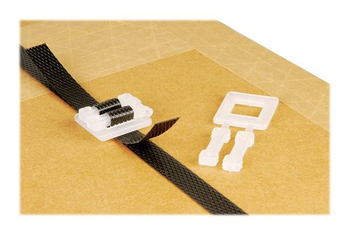 Heavy Duty White Plastic Buckles for Manual Strapping