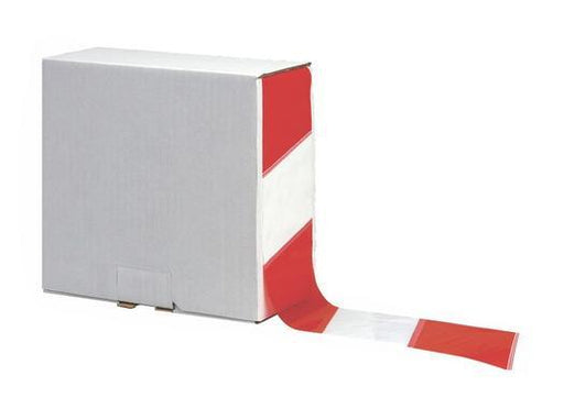 70mm x 500m Red/White Barrier And Area Cordon Tape