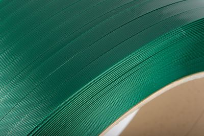 Green Embossed PET Strapping 12mm x 0.7mm x 2000mtr. 350kg break strain