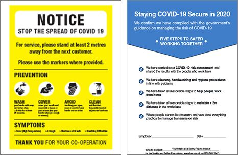 6 x A4 Laminated Social Distance Awareness Information And Compliance Posters